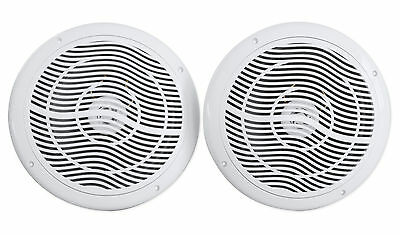"Pair Rockville RMC80W 8"" 800 Watt Waterproof Marine Boat Speakers 2-Way White"