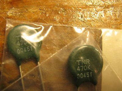 Varistor markings on part TNR470K qty 2 New Old STock (NOS) FREE SHIPPING