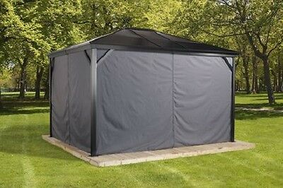 Privacy Curtains for a Gazebo Sojag Meridien 10'X10' (Hooks Included)