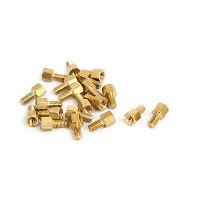 M3 Male to Female Thread Insulated Brass Standoff Hexagonal Spacer 4+6mm 20pcs
