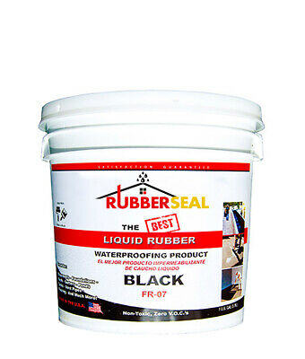 Rubberseal Liquid Rubber Waterproofing Roll On Black 1 Gallon - New