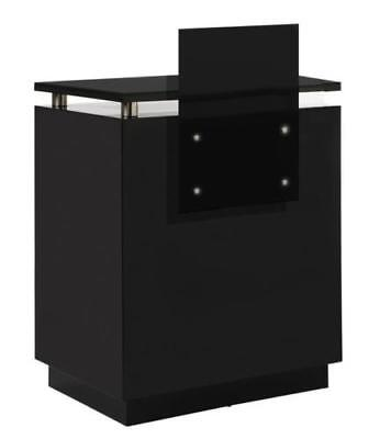 Hair & Beauty Salon Reception Desk with Raised Shelf - Retail Shop Counter