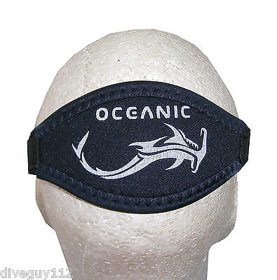OCEANIC Comfort Padded w/ Silicone Mask Strap Scuba Diving Free Dive Black