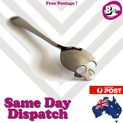 Skull Spoon Teaspoon Coffee Sugar Gift Halloween Dessert Stainless Steel Cutlery