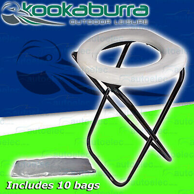 Budget Compact Folding Portable Outdoor Camp Camping Toilet Disposable Bag Cpt1