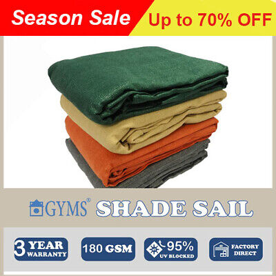 SHADE SAIL shade cloth 3Mx4M Rectangle 3x4m 3m by 4m Grey factory outlets