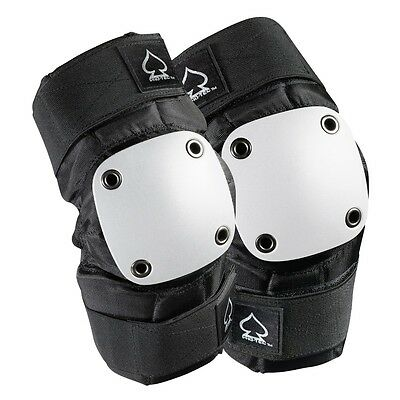 Protec PARK Skateboard ELBOW Pads BLACK/WHITE LARGE
