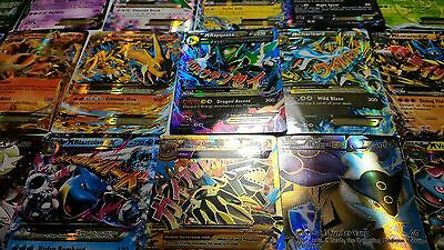 Pokemon TCG 100 CARD LOT 10x HOLO & GUARANTEED EX, MEGA, FULL ART NO DUPLICATES!
