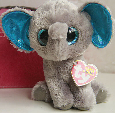 "Ty Beanie Boos Peanut the Elephant Animal Plush 6"" Stuffed Toy Dolls"