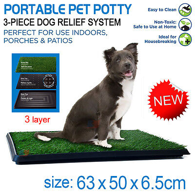 Indoor Dog Pet Potty Zoom Park Training Portable Mat Toilet Large & Grass Mat
