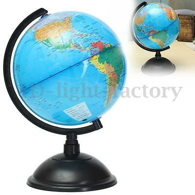 Blue Ocean World Globe Map With Swivel Stand Geography Educational Toy Gift 20cm