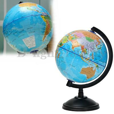14cm World Globe Atlas Earth Map Swivel Stand Geography Educational Toy Kid Gift