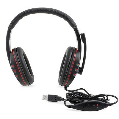 Cuffie Headset Auricolari con Microfono Mic per PS3 Playstation 3 Laptop PC Nero