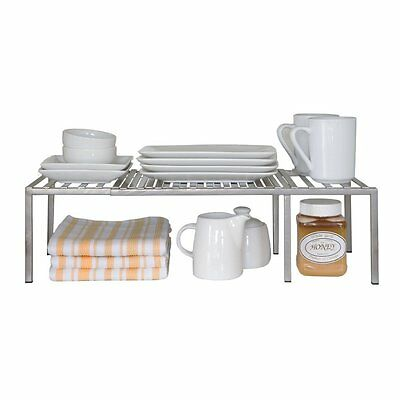 Seville Classics Expandable Kitchen Counter and Cabinet Shelf (SHE14052B) NEW
