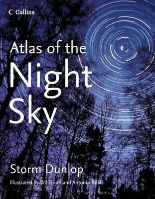 Collins Atlas of the Night Sky by Rukl, Antonin Hardback Book The Cheap Fast
