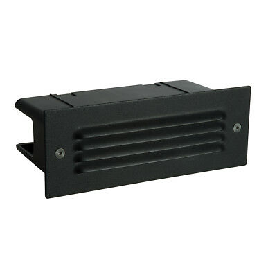Saxby Endon - Seina Louvre - Black Outdoor Garden Recessed LED Wall Brick Light