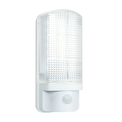 Saxby Sella 7W White Outdoor Garden Security Motion Sensor IP44 LED Wall Light