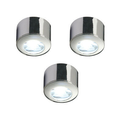 Saxby Pepa 1W Pack of 3 Chrome Effect Under Cabinet Kitchen Display LED Kit