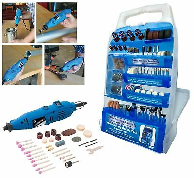 Rotary Hobby Tool Silverline 135w With 400pc Accessory Set.