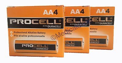 Duracell Procell PC1500 Alkaline AA Batteries 12 Batteries 3 Packs of 4