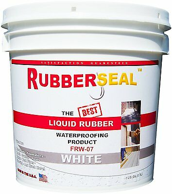 Rubberseal Liquid Rubber Waterproofing Roll On White 1 Gallon - New