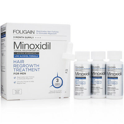 FOLIGAIN N5 MINOXIDIL 5% Low Alcohol Formula 3 Months Supply