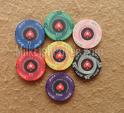 NEW CASH GAME 500 EPT Ceramic Poker Chips -with ABS Case, Cards, Button and Dice