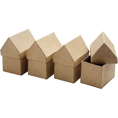 *SALE*   Paper Mache House: Gift Box To Decorate Christmas Xmas Home Present