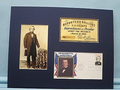 The Impeachment of Andrew Johnson & the First day Cover of his stamp