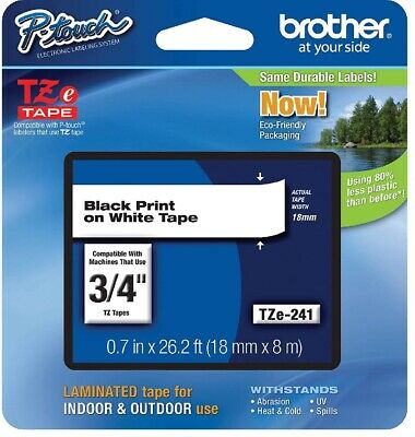 Brother P-Touch TZ-241 Tape TZ241/ Ptouch Tape TZE241 TZe-241 *Genuine Brother*