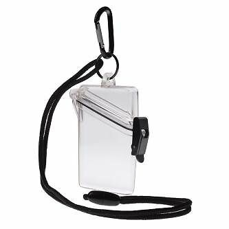 WITZ See it Safe Waterproof ID/Badge Holder Case Clear New