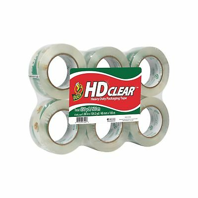 "Duck Brand HD Clear High Performance Grade Packaging Tape 1.88"" x 109.3 Y..."