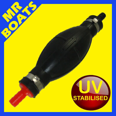 OUTBOARD FUEL LINE PRIMER BULB for 10mm, 3/8 Dia Hose ✱UV Stabilised✱ BRAND NEW