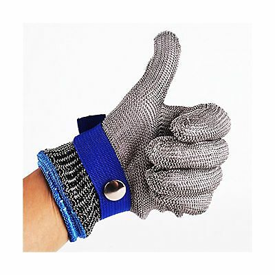 Safety Cut Proof Stab Resistant Stainless Steel Metal Mesh Butcher Glove ... New