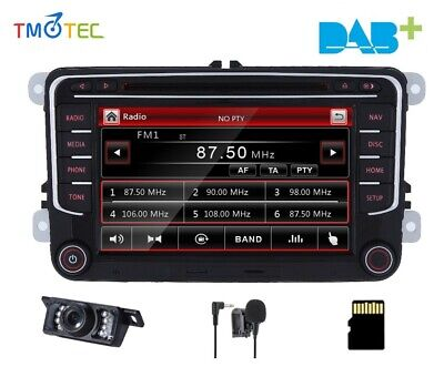 VW Golf V VI MK5 Plus 2003-2012 head unit GPS SAT NAV Radio Bluetooth Touch UK
