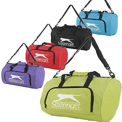 Slazenger Sports Gym Holdall Bag Travel Lightweight Luggage Weekend Duffle Carry