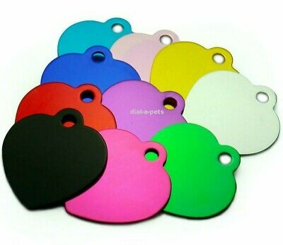 8 Tags For £15 - Multi-Buy Coloured Dog Cat Pet Disc Tags Engraved & Posted Free