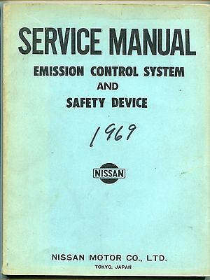 """1969 NISSAN Manual: """"Emission Control System & Safety Device"""""""