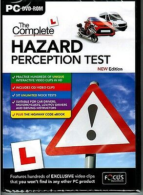 The Complete Hazard Perception Test 2016/17 Edition PC DVD ROM - New fc_hzrd