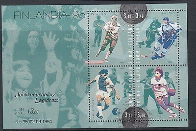 FINLAND :1995 Finlandia 95 Stamp Exhibition sheet 4 SG MS1382 MNH