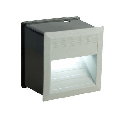 Saxby 60270 Liam 1.5W Square Outdoor Garden IP65 Recessed Guide LED Wall Light