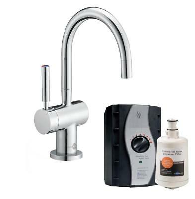 InSinkErator HC3300C | Instant Boiling Hot + Cold Water Tap Complete Kit, Chrome