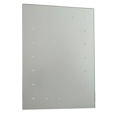Saxby 51898 Toba Illuminated LED Battery Powered IP44 Light Up Bathroom Mirror
