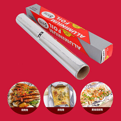 Aluminum foil Roll Silver Paper food Wrap kitchen barbecue bakeware sheet 0.3×5m