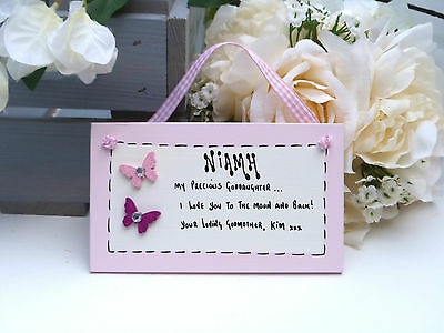 D33 Personalised Godchild Goddaughter from Godparent Christening gift plaque