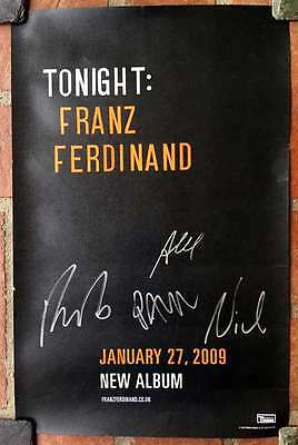 FRANZ FERDINAND Signed Autographed 11x17 Promo Poster WHOLE BAND