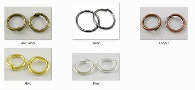10 gms - Round jump rings 8mm Diameter, 1mm thick - approx 65 rings