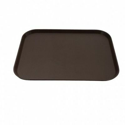 12x Tray, Fast Food Style, Brown Polypropylene, Cafeteria, 300 x 400mm