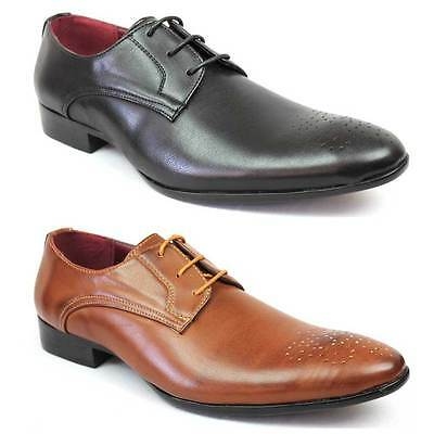 New Mens Dress Shoes Almond Toe Lace Up Oxfords Modern Detailed Royal Alen 2