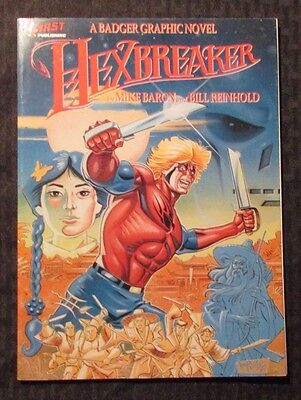1988 HEXBREAKER by Mike Baron NM 1st First Badger Graphic Novel